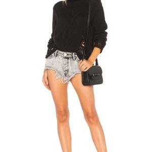 One Teaspoon Rollers Distressed Denim Shorts, 26